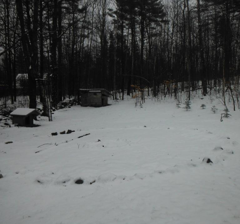 circle garden winter