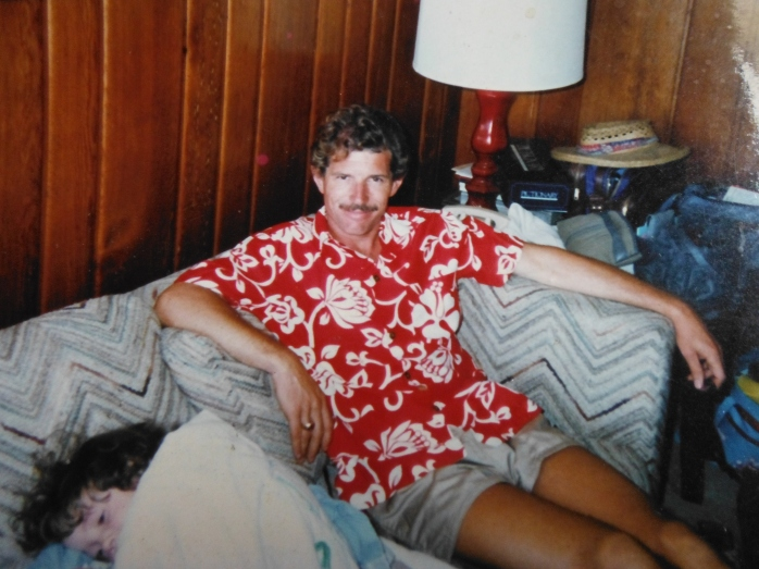 MIke and me on the team's trip to Hawaii.  I was glued to his side whenever possible.
