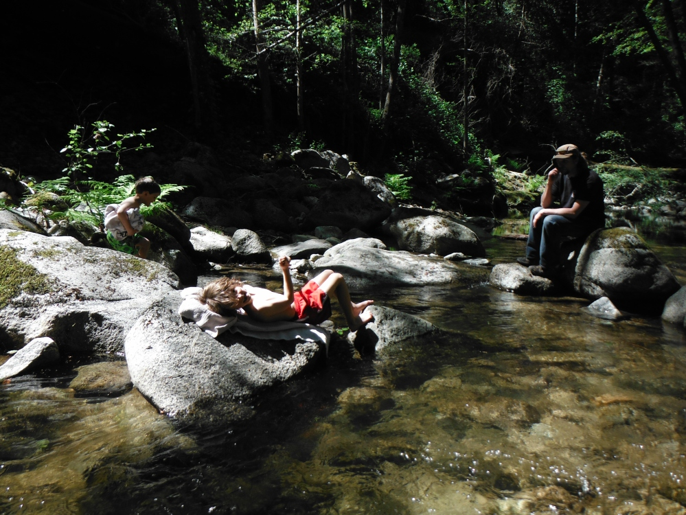 Warm rocks, clear water make for lazy days down by the river.