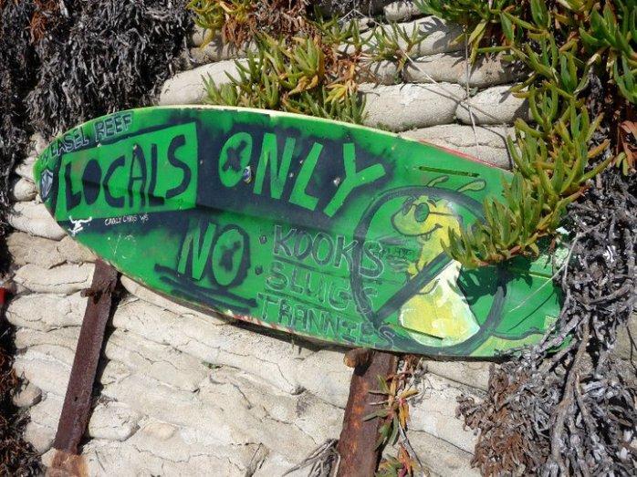 Locals only. No slugs.