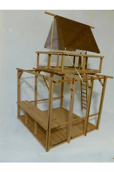 """""""Zombie Ops Outpost, scale model. This is an idea for a structure at Che's ranch in Bodega, CA.""""-DG"""